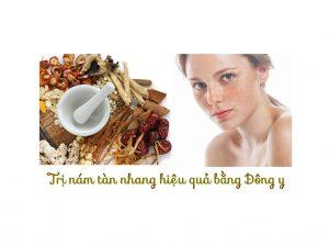 Bài thuốc trị nám da mặt từ cây cỏ tự nhiên